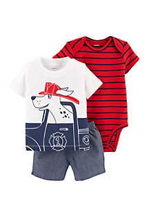 Carter's® Baby Boys Firefighter Little Short Set