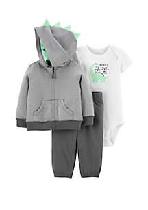 Baby Boys 3-Piece Dinosaur Little Jacket Set