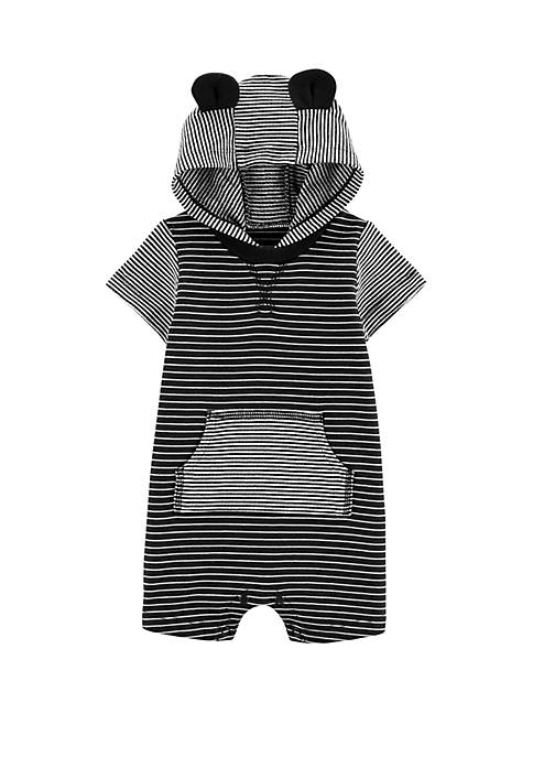 Carter's® Baby Boys Striped Hooded Romper