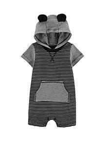 f91faf096b ... Carter s® Baby Boys Striped Hooded Romper