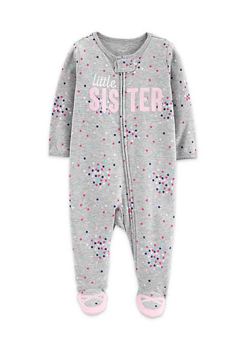 Carter's® Baby Girls Little Sister Zip-Up Cotton Sleep