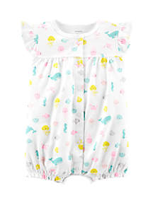Carter's® Baby Girls Whale Snap Up Romper