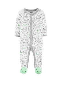 Baby Boys Dinosaur Snap-Up Cotton Sleep & Play