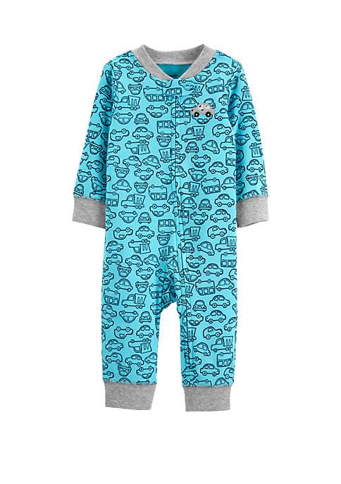Baby Boys Car Zip-Up Jumpsuit