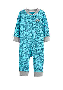 Carter's® Baby Boys Car Zip-Up Jumpsuit