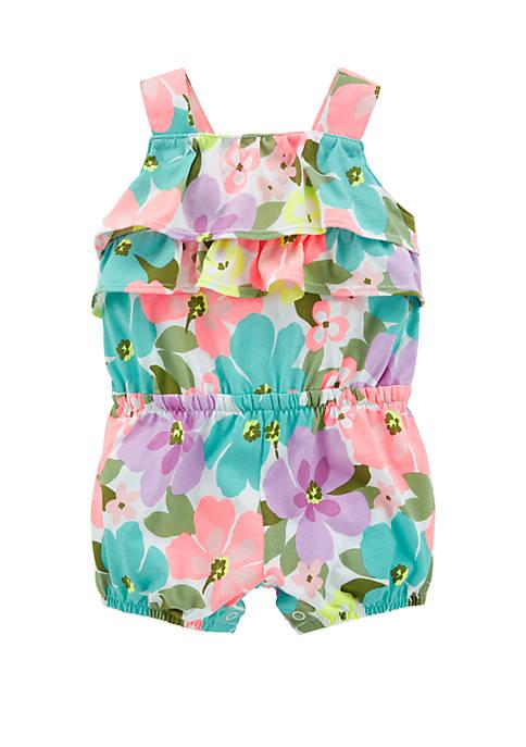 Baby Girls Floral Tank Romper