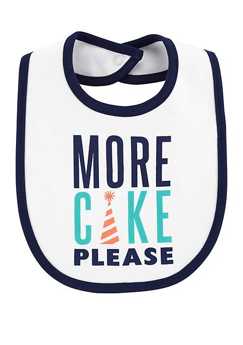 Carter's® Baby Boys More Cake Please Teething Bib