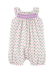 fa7a8a49d ... Carter's® Baby Girls Geometric Print Embroidered Romper