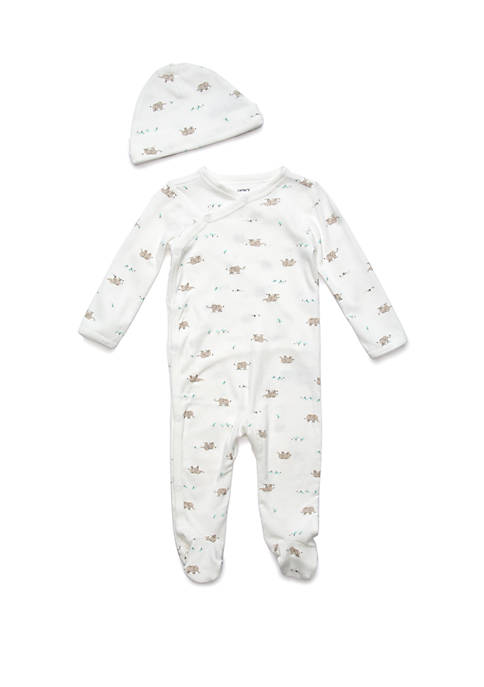 Carter's® Baby 2-Piece Cap & Side-Snap Sleep and