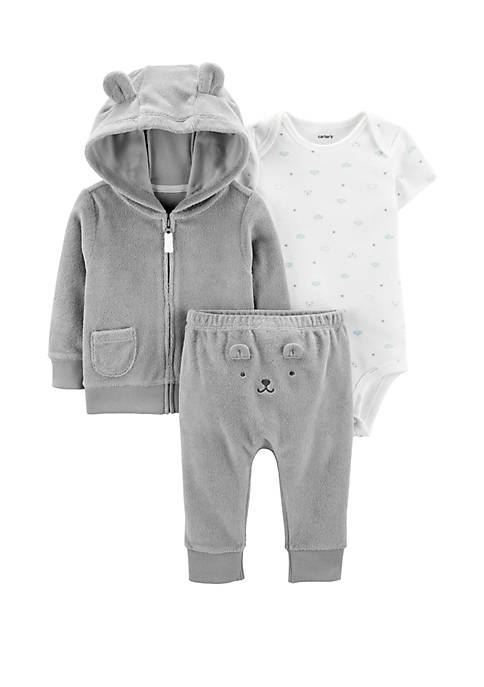 Carter's® Baby Boys 3 Piece Terry Little Jacket