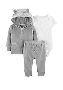 Carter's® Baby Boys 3 Piece Terry Little Jacket Set