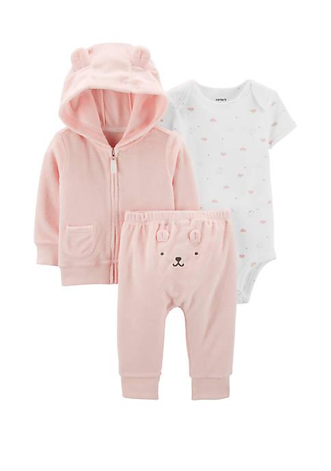 Carter's® Baby Girls 3 Piece Terry Little Jacket