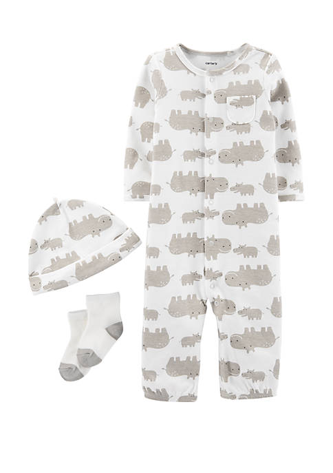 Carter's® Baby Boys 3 Piece Hippo Take Me