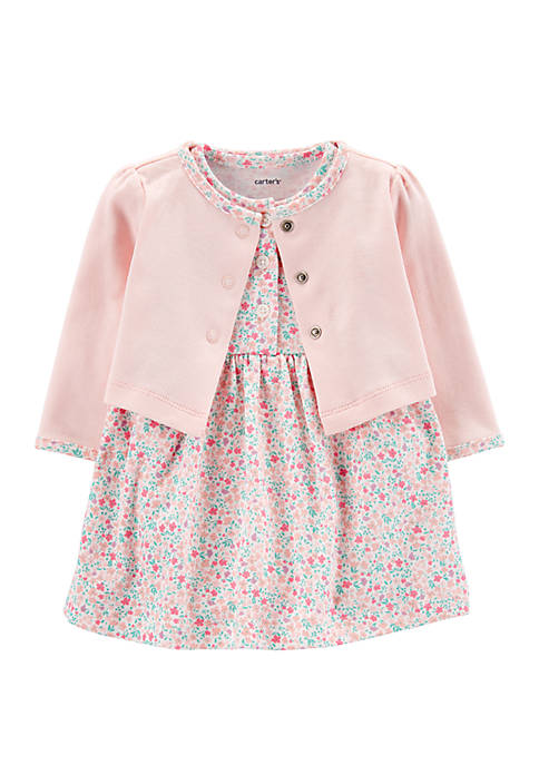 Carter's® Baby Girls 2 Piece Floral Bodysuit Dress