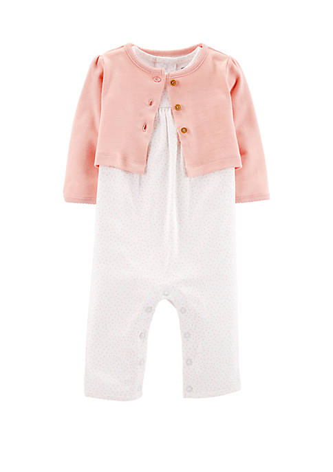 Carter's® Baby Girls 2 Piece Jumpsuit and Cardigan