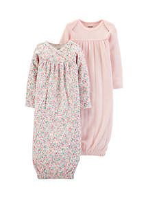 Carter's® Baby Girls Sleeper Gown Set