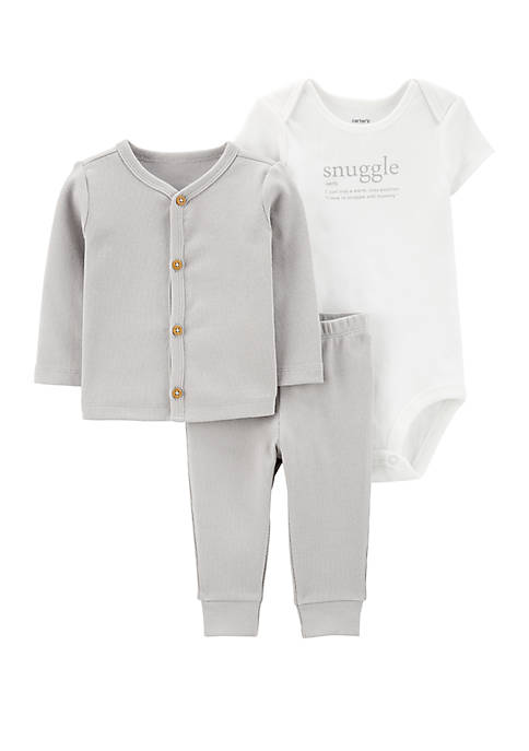 Carter's® Baby Boys 3 Piece Little Cardigan Set