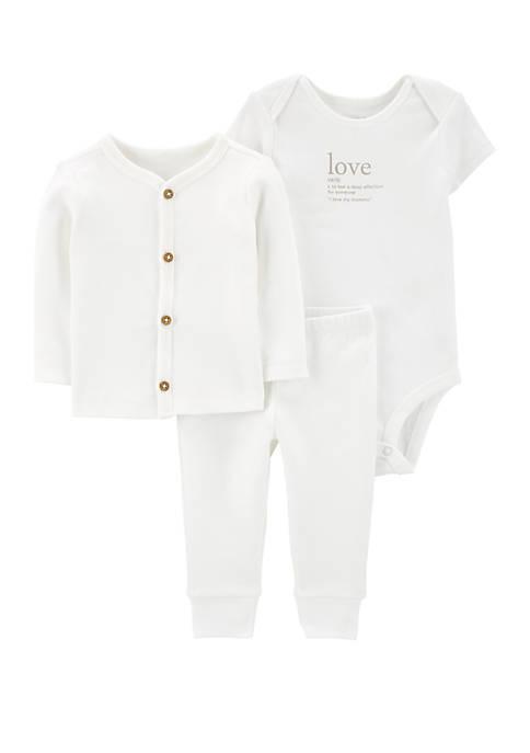 Carter's® Infant 3 Piece Little Cardigan Set