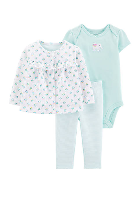Carter's® Baby Girls 3 Piece Little Cardigan Set