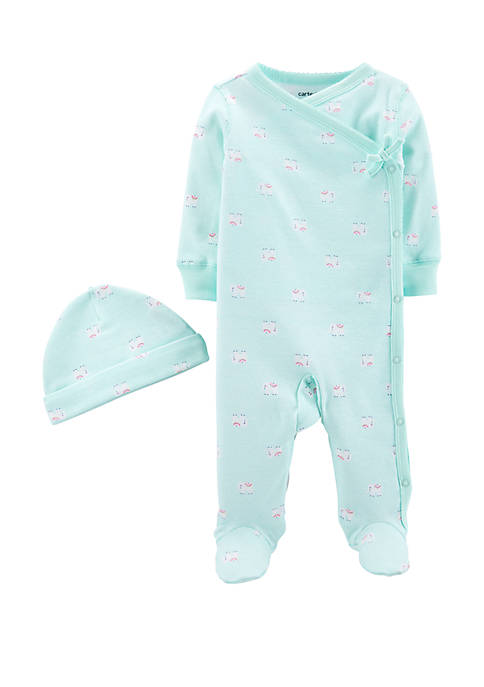 Carter's® Baby Girls 2 Piece Side Snap Cotton