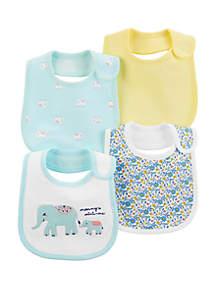 Carter's® Baby Girls Elephant Teething Bib Set