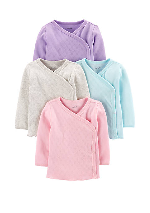 Carter's® Baby Girls 4 Pack Side Snap Tees