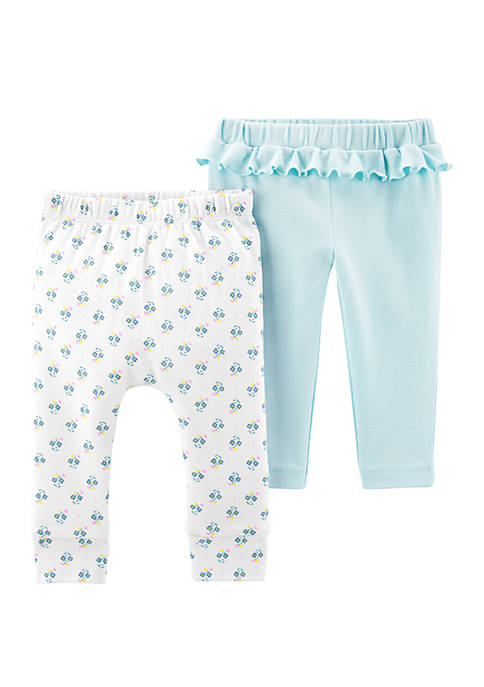Carter's® Baby Girls 2 Pack Cotton Pants