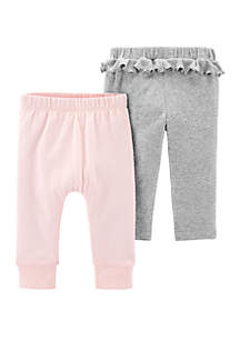 Carter's® Baby Girls Set of Cotton Pants