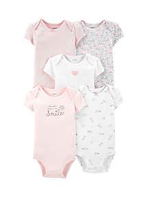 e0ddf661c ... Carter's® Baby Girls 5 Pack Floral Original Bodysuits