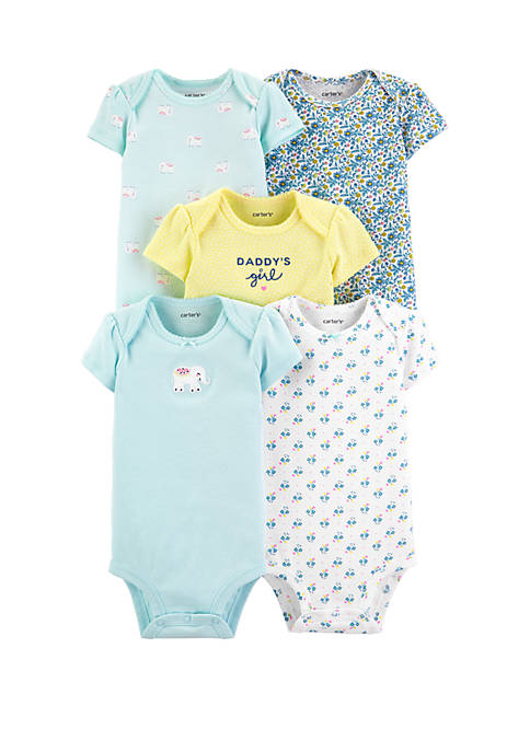 Carter's® Baby Girls 5 Pack Elephant Original Bodysuits
