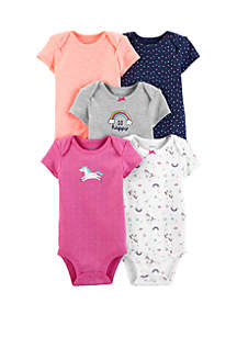 5dd2f1112 ... Carter s® Baby Girls 5 Pack Unicorn Original Bodysuits