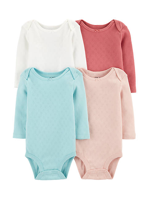 Carter's® Baby Girls 4 Pack Heart Original Bodysuits