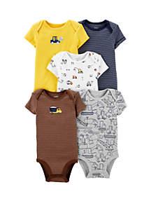 Carter's® Baby Boys Set of 5 Construction Original Bodysuits