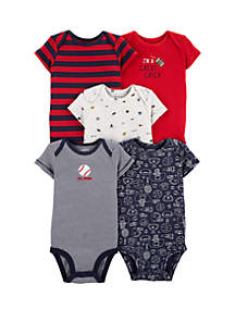 Carter's® Baby Boys Set of 5 Sports Original Bodysuits