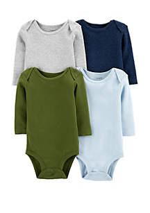 Carter's® Baby Boys Set of 4 Original Long Sleeve Bodysuits