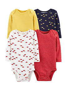 ce67a44cd ... Carter's® Baby Boys Set of 4 Long Sleeve Original Bodysuits