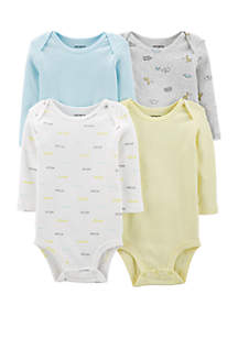 Carter's® Baby Set of 4 Striped Original Bodysuits