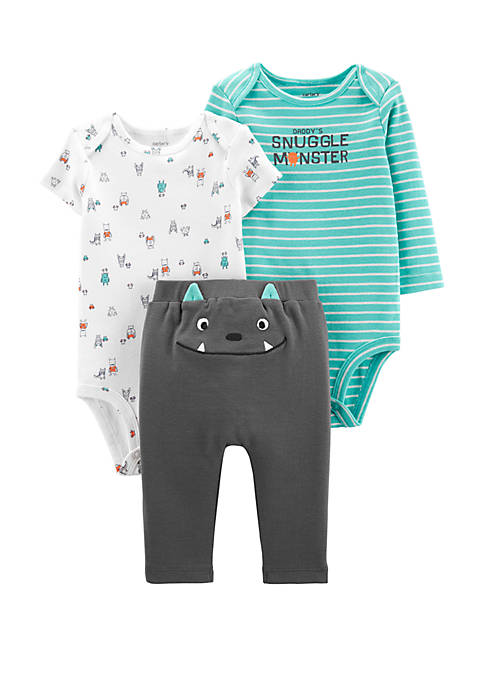Carter's® Baby Boys 3 Piece Monster Little Character