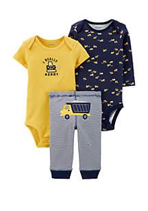 Carter's® Baby Boys 3 Piece Construction Little Character Set