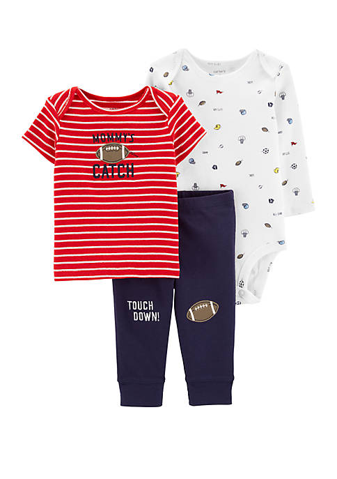 Carter's® Baby Boys 3 Piece Sports Little Character