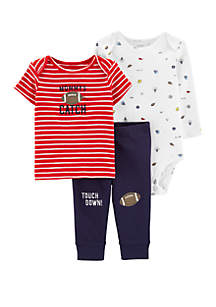 b7d37bf9f ... Carter's® Baby Boys 3 Piece Sports Little Character Set