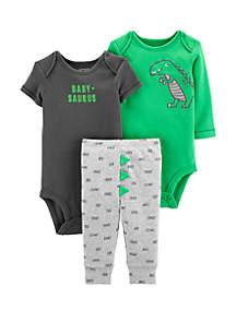 Carter's® Baby Boys 3 Piece Dinosaur Little Character Set