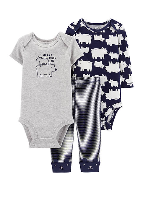 Carter's® Baby Boys 3 Piece Polar Bear Little