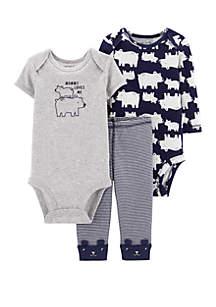 Carter's® Baby Boys 3 Piece Polar Bear Little Character Set