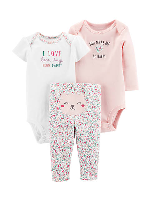 Carter's® Baby Girls 3 Piece Floral Little Character