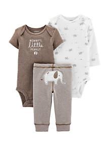 Carter's® Baby 3 Piece Elephant Little Character Set