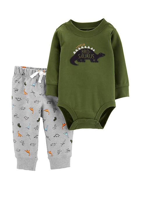 Carter's® Baby Boys 2 Piece Dinosaur Bodysuit Pant