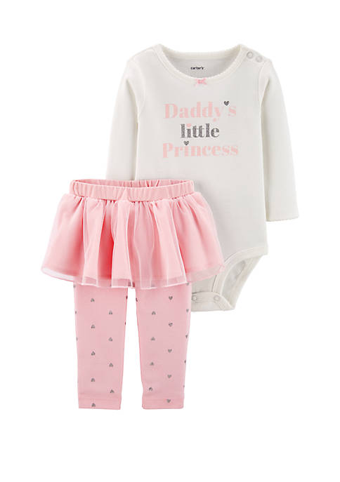 Carter's® Baby Girls Two Piece Princess Bodysuit and