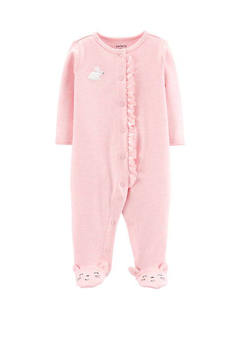 Baby Girls Snap Bunny Coveralls