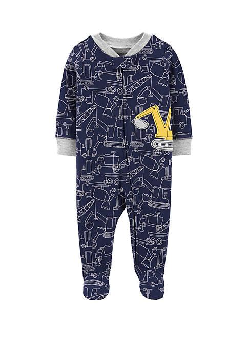 Carter's® Baby Boys Construction Zip Up Sleep and
